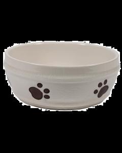 Bol pour chiens en céramique ivoire, Spot