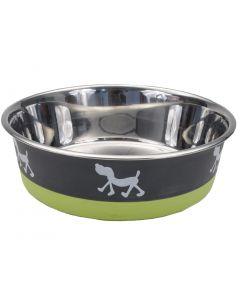 Bol Maslow vert et gris avec motifs pour animaux