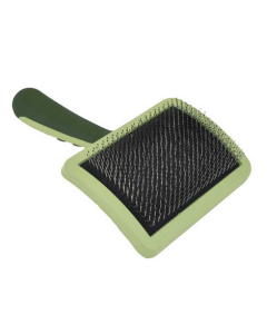 Curved firm curved brush for large dogs, Safari