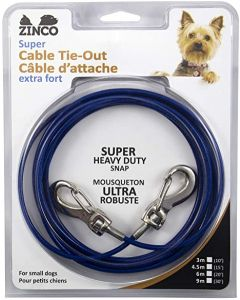 Câble d'attache pour petit chien Zinco