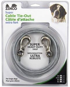 Câble d'attache extra-fort pour chien Zinco