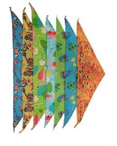 Foulards ou bandanas pour animaux, motifs été, Cozymo