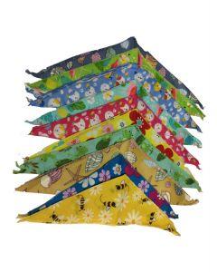 Bandanas ou foulards Cozymo, motif de printemps été
