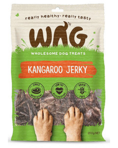 Gâteries pour chiens de kangourou Jerky, Wag