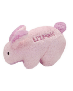 Pink bunny soft toy for small dogs, Li'l Pals