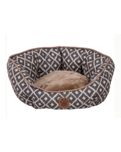 Daydreamer Pet Bed, Gray / Beige, Snoozzy 26 ""