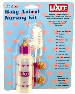 Lixit nursing bottle set for dog or cat, 2 oz.