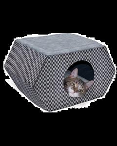 Black & Gray Plaid Cat House, K&H