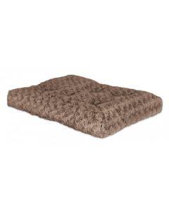 Matelas de luxe sable en peluche touffetée pour chien et chat