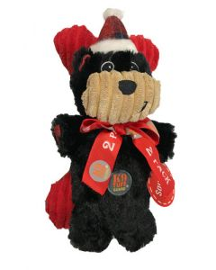 Charmingpet black bear Christmas plush for dog