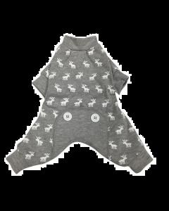 Pajamas for dogs, Gray moose Foufoudog