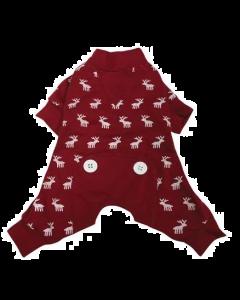 Pajamas for dogs, Red moose Foufoudog