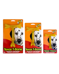 Teething bone for dog, Texas t-bone with Fido beef