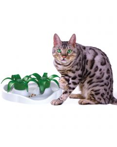 Bol interactif pour chat avec jolie fleur, Thin Kat Aikiou