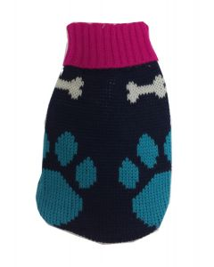 Knitwear for dogs turquoise and pink